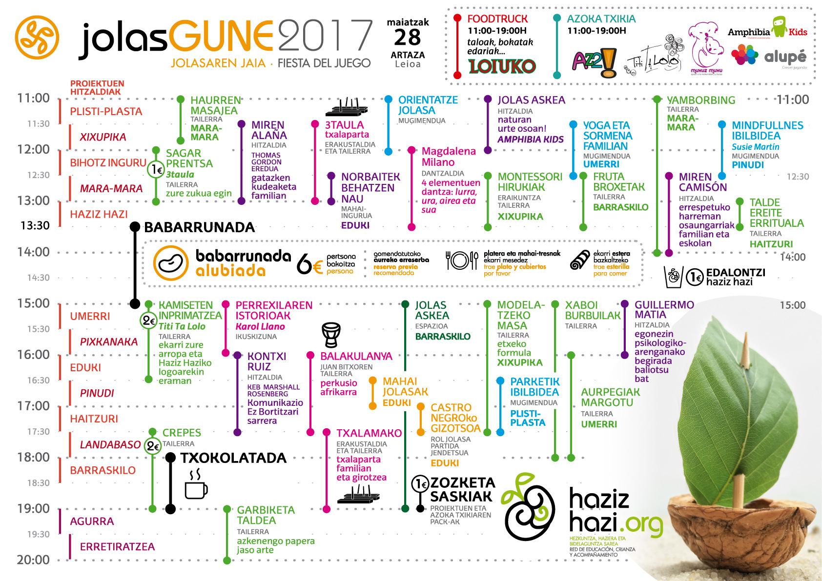 jolasgune 2017 programa euskara hazizhazi egitaraua