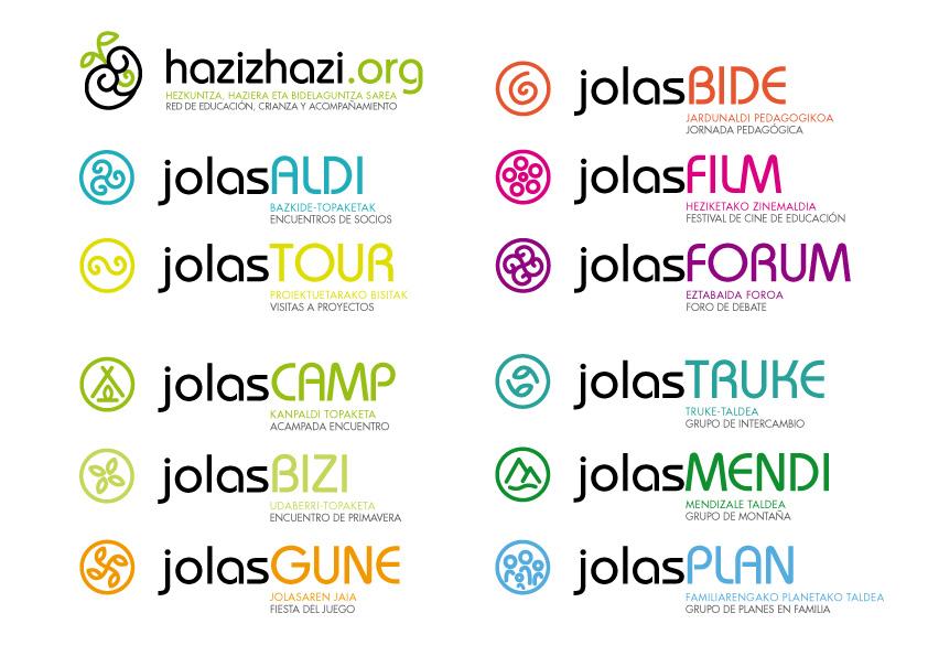hazizhazi logos actividades jolas