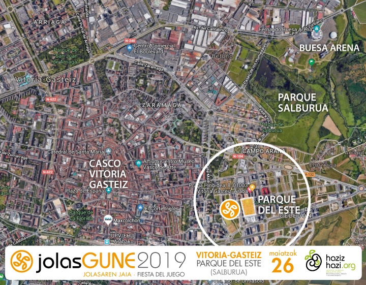 jolasgune 2019 hazizhazi mapa general ubicación vitoria gasteiz parque del este