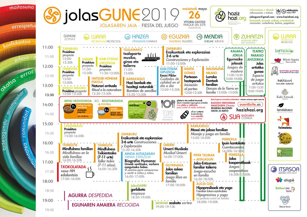 Programa jolasGUNE 2019 Vitoria-Gasteiz HazizHazi